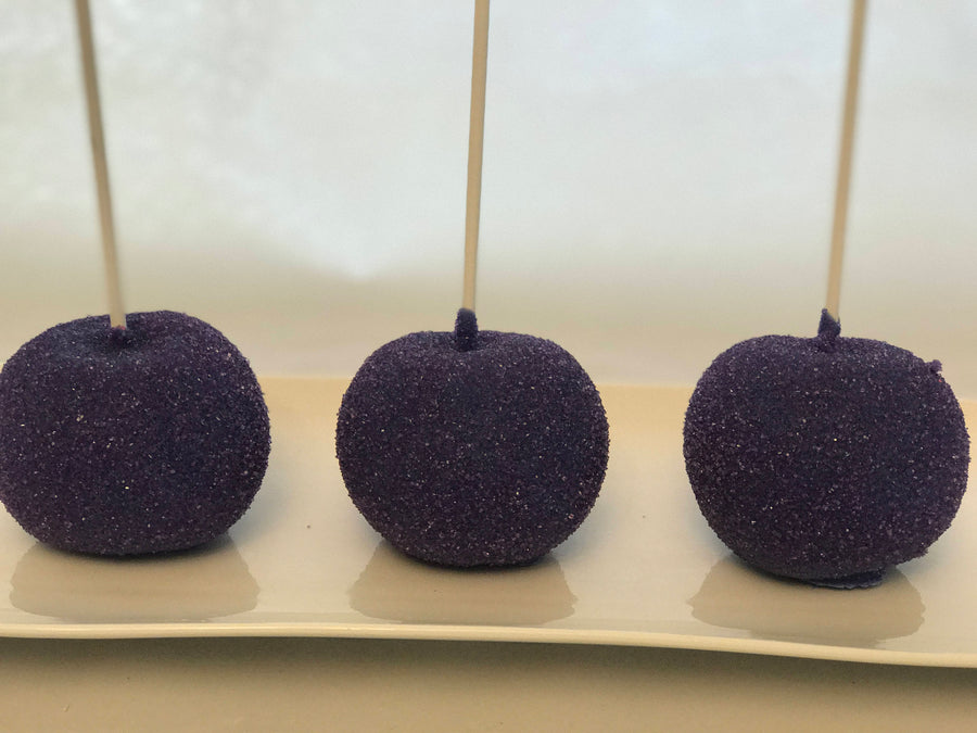 Purple Sprinkle Chocolate Covered Apples