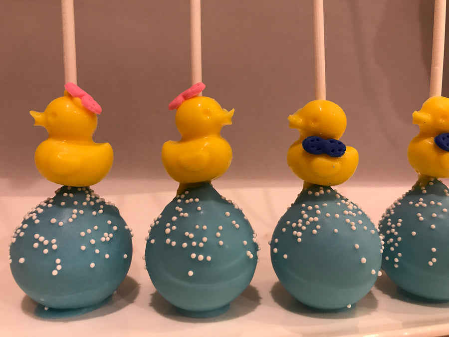 Rubber Ducky Cake Pops