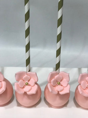 Light Pink Flower Cake Pops
