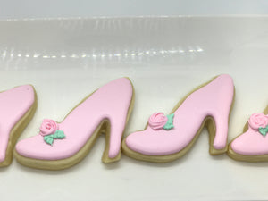 Princess Slipper, High Heel, Shoe Cookies