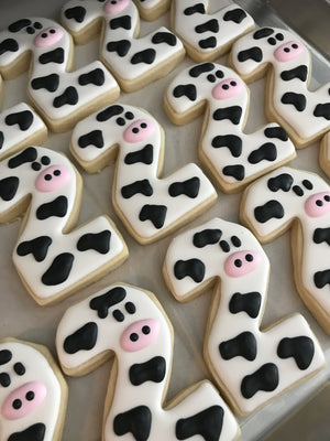 Farm Animal Number Cookies