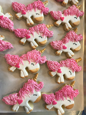 Pink Unicorn Sugar Cookies