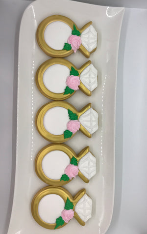 Engagement Ring Cookies