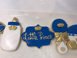 Little Baby Prince Theme Cookie Assortment | Royal Prince King Theme
