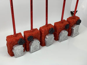 Halloween Rice Krispie Treat, Edible tombstone, Chocolate covered
