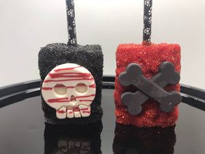 Halloween Rice Krispie Treat, Edible Skull; Pirate Theme