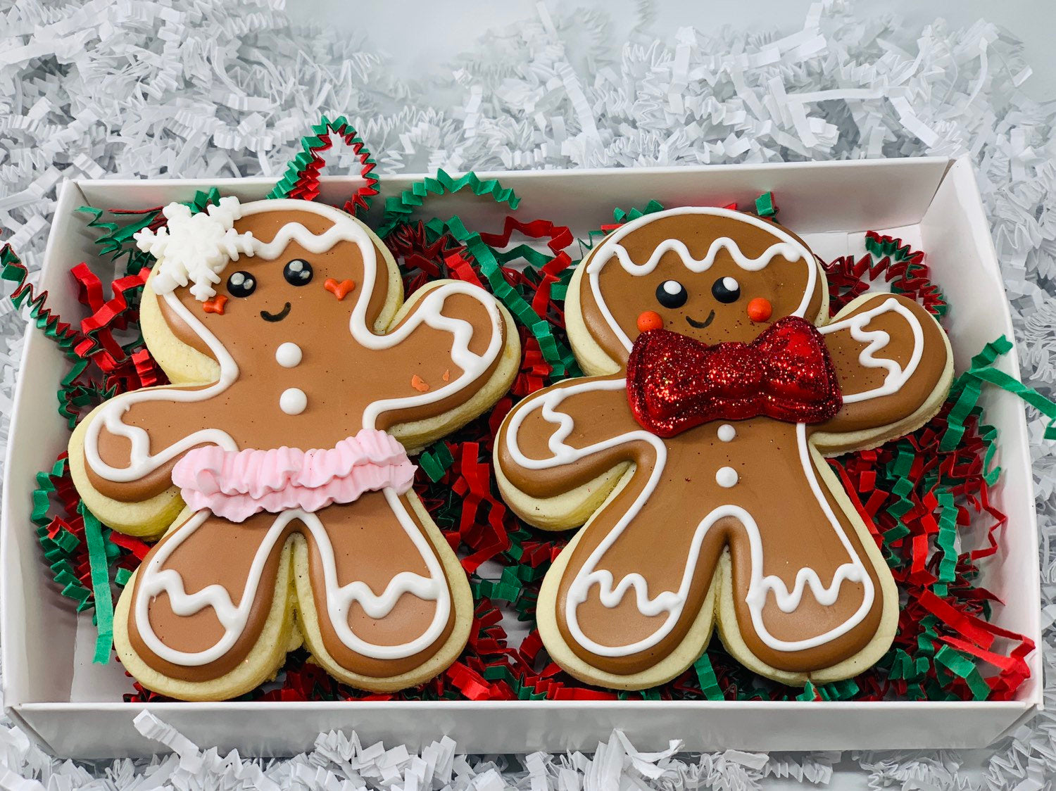 Gingerbread Boy And Or Girl Sugar Cookie Gift Set