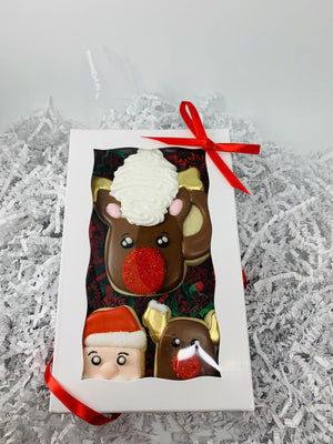 Reindeer Mug and Marshallow Decorated Sugar Cookie Gift Box