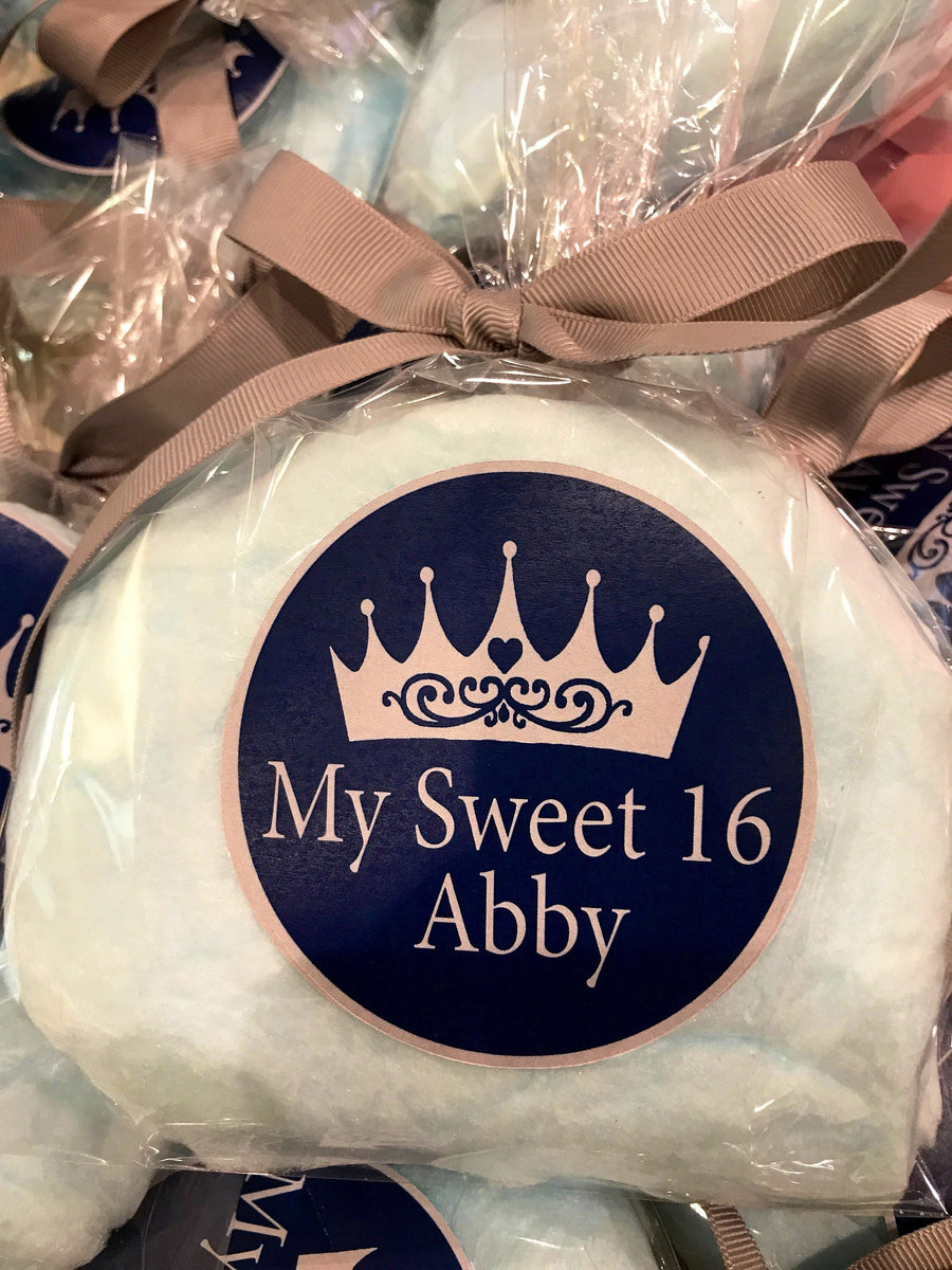 Sweet 16 Cotton Candy Party Favors, 12 Bags