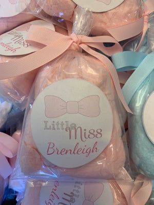 Gender Reveal Cotton Candy Party Favors, 24 bags