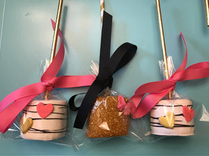 Shabby Chic Chocolate Covered Marshmallows