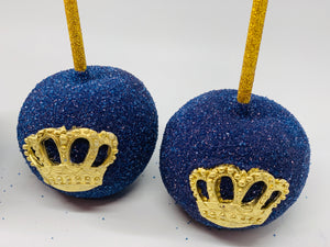 Royal Blue Prince Chocolate Covered Apples | King Prince Royalty Theme