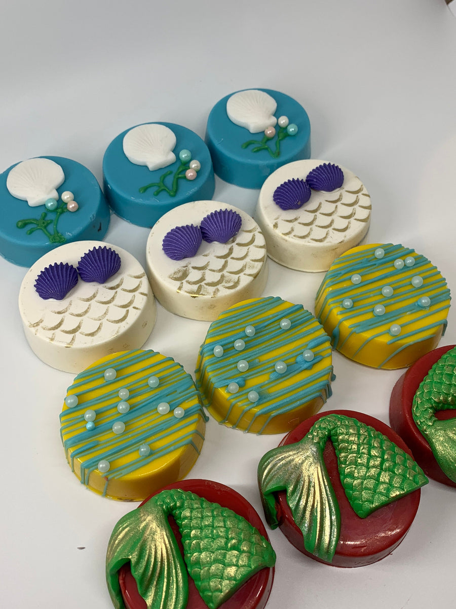 Under The Sea Chocolate Covered Oreos, Mermaid Cookie