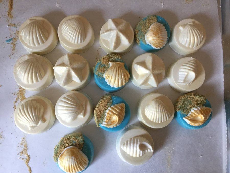Gold Seashell Chocolate Covered Oreos