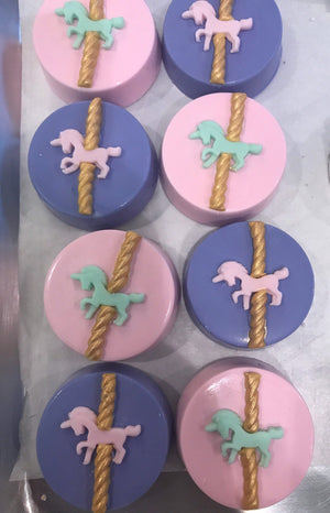 Carousel Party Chocolate Covered Oreos