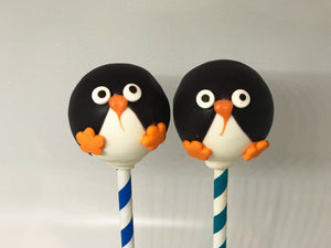 Cute Penguin Winter Holiday Cake Pops