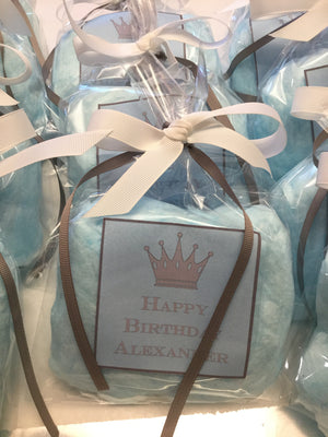 Little Prince Cotton Candy Party Favor Bags