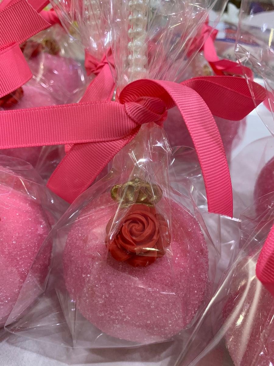 Pink Rose Princess Chocolate Covered Apples