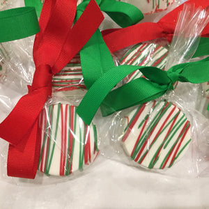 Red and Green Drizzle Chocolate Covered Oreos, Christmas