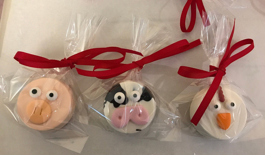 Farm Animal Chocolate Covered Oreos