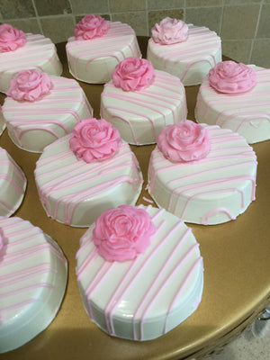 Pink Rose Chocolate Covered Oreos
