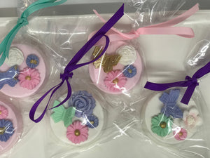 Butterfly and Flowers Chocolate Covered Oreos
