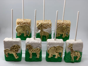 Safari Animal Rice Krispie Treats