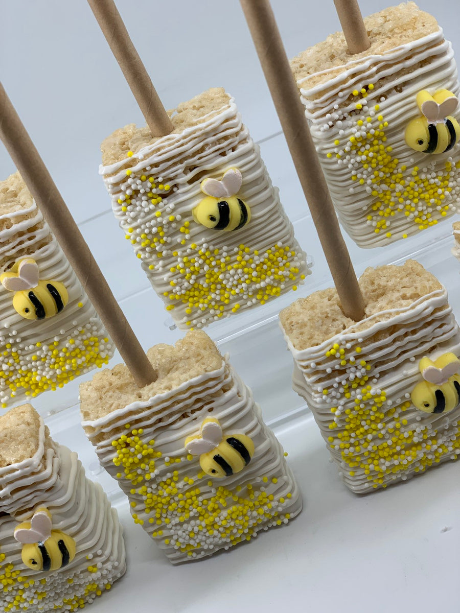Bumblebee Rice Krispie Treats, Bee Theme