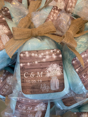 Cotton Candy Rustic Party Favor Bags