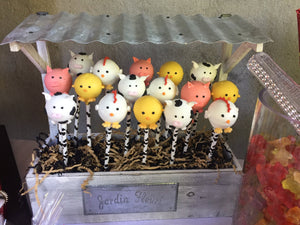 Farm Animal Cake Pops