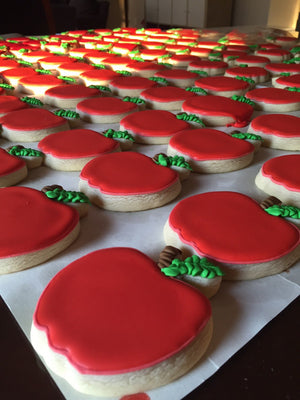Red Apple Sugar Cookies