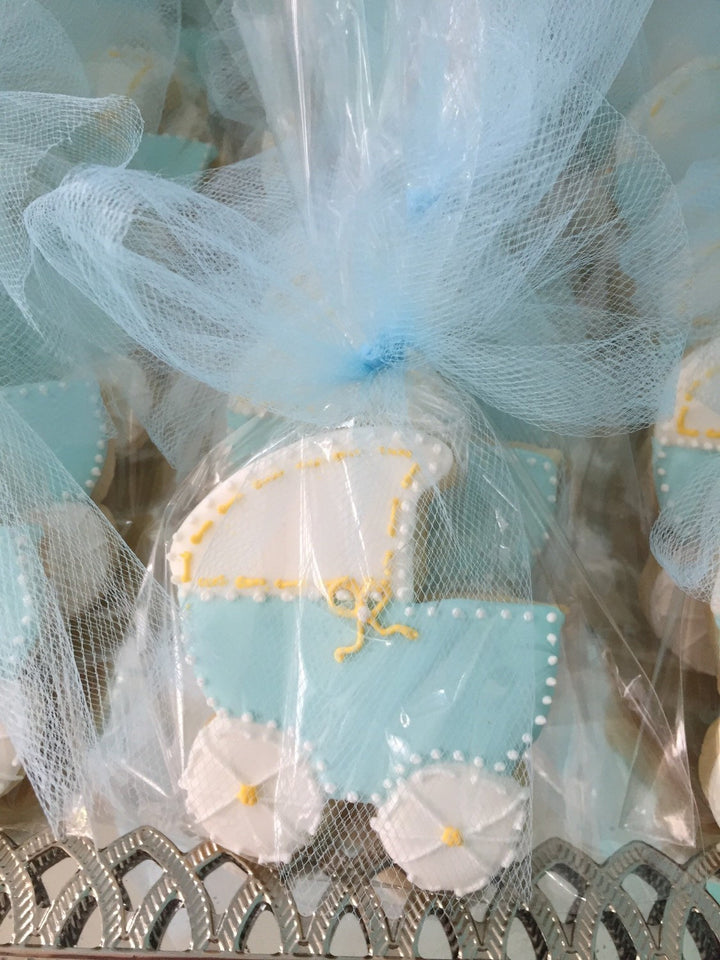 Baby Boy Shower Baby Carriage Cookies