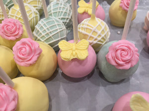 Butterfly and Rose Cake Pops