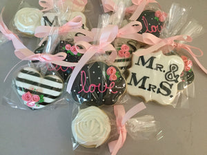 Mr & Mrs Bride and Groom Cookie Assortment