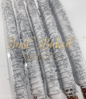 Silver Chocolate Covered Pretzels