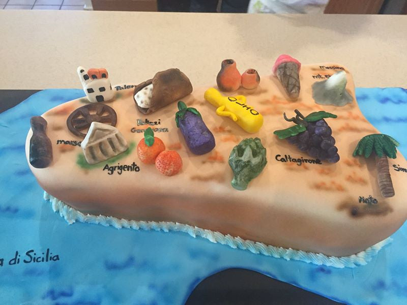 Sicily All Edible Map Cake