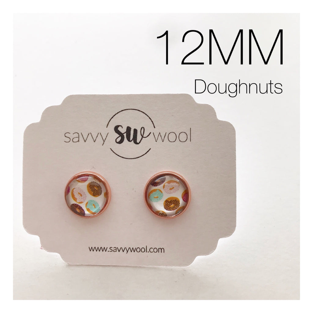 Doughnut Druzy Earrings 12MM (Big)