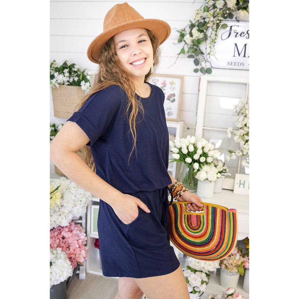 The Miracle Romper - Navy