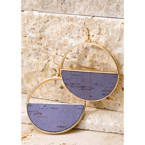 Cork Statement Earrings