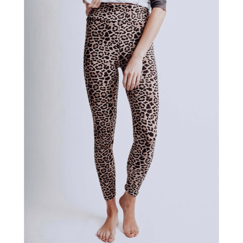 Leopard Leggings - Brown