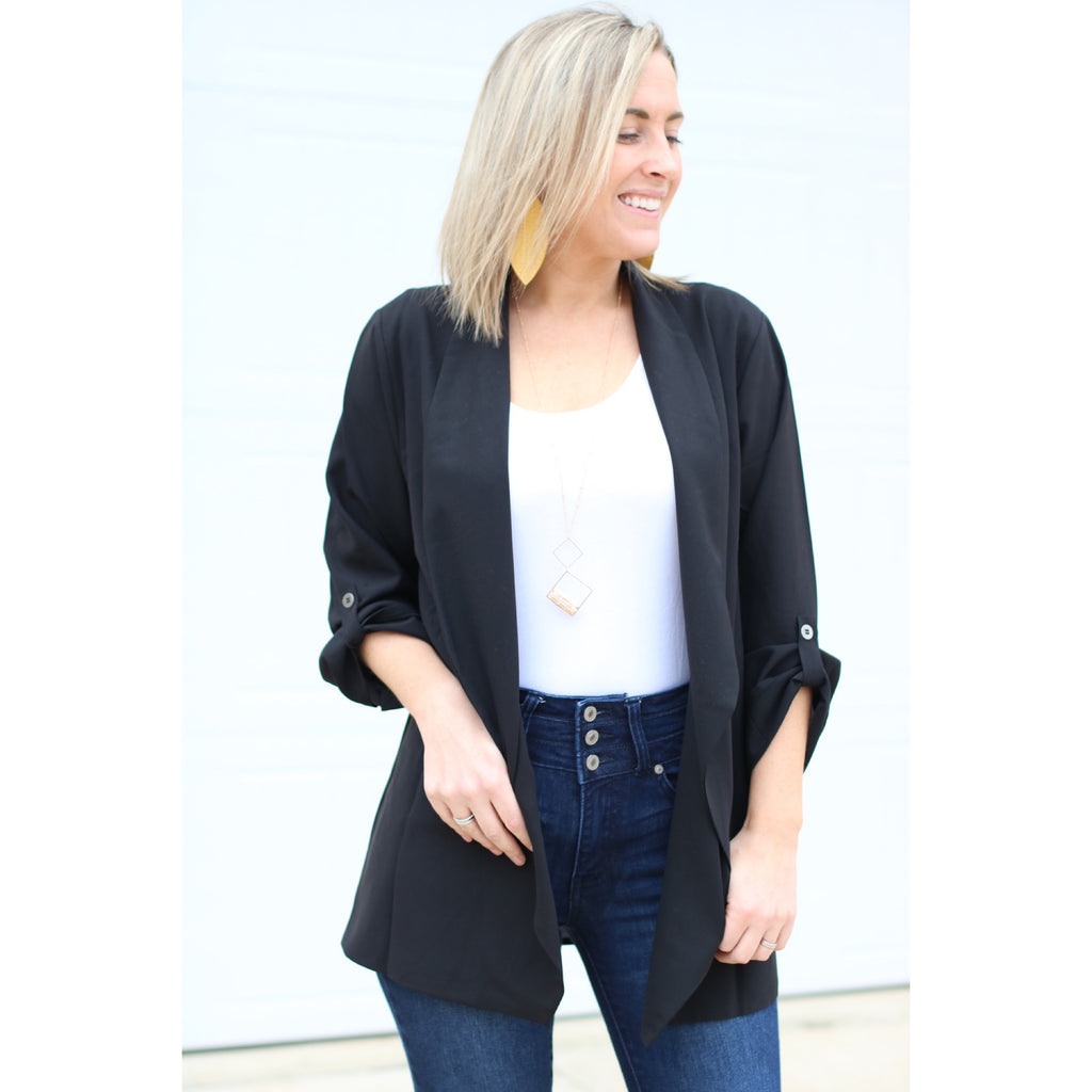 Working Girl Blazer - Black