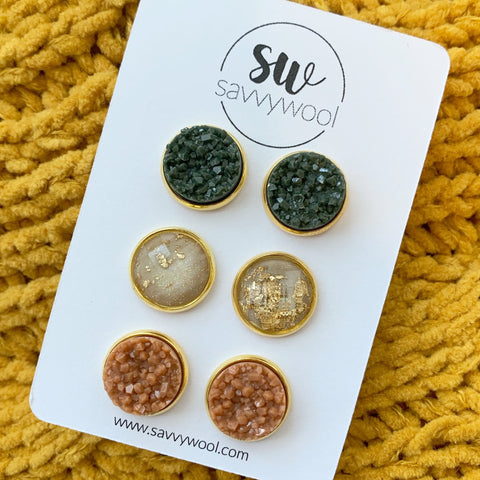 Fall for You Druzy Set 12MM