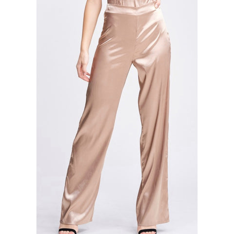 Satin Dress Pants - Champagne
