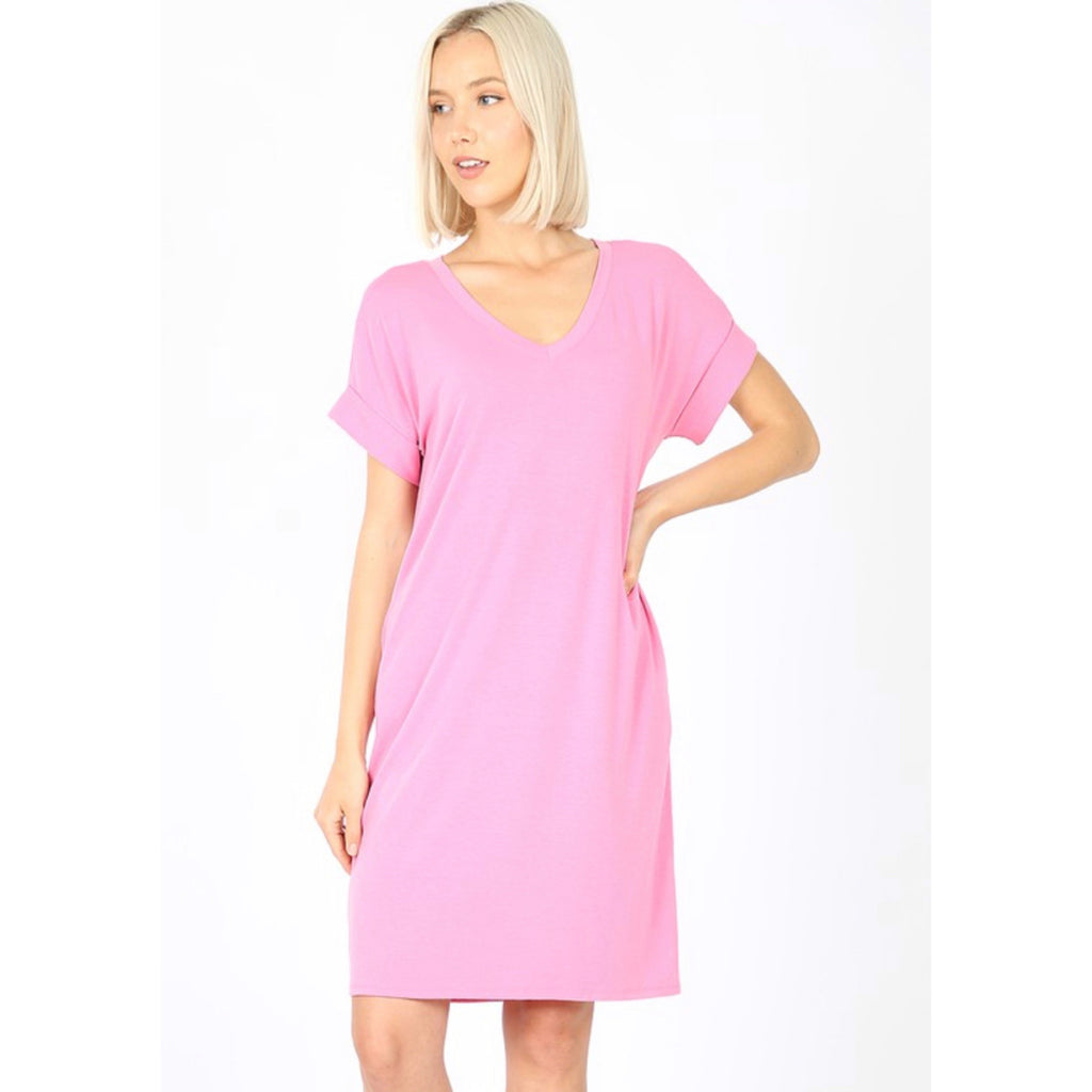 Savvy Day Dress - Candy Pink