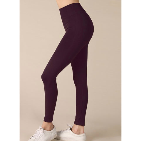 Savvy Magic Leggings - Yoga Waist - Wine