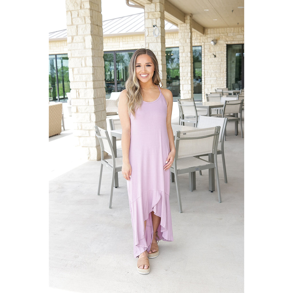 High Low Summer Maxi - Lilac