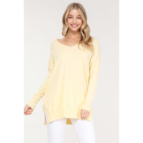Love the Spring Sweater - Canary Yellow