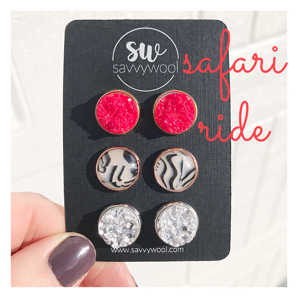 Safari Ride Druzy Set