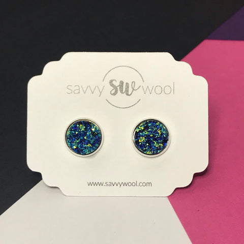 12MM Druzy Earrings -  Mermaid - Best Seller!!