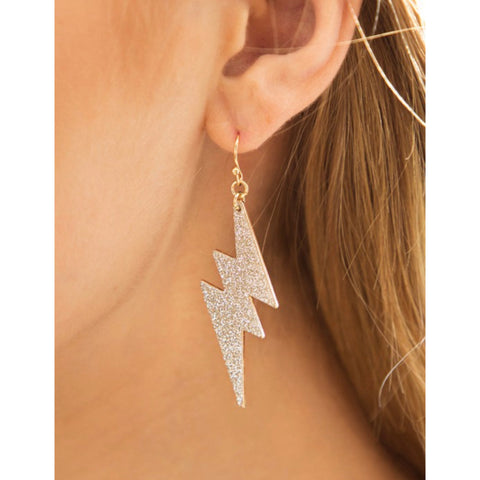 Lightening Bolt Statement Earring